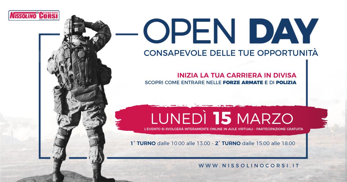 Open Day Nissolino Corsi 2021
